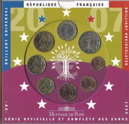 Frankrijk BU set 2007