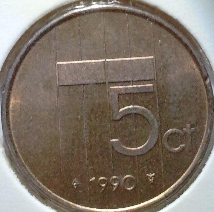 5 Cent 1990, UNC