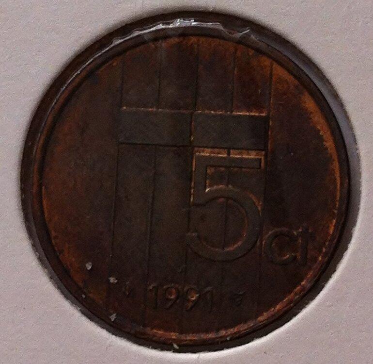 5 Cent 1991, UNC