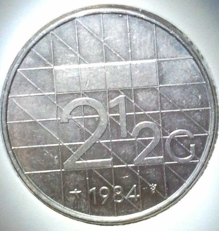 Beatrix 2½ Gulden 1984, FDC