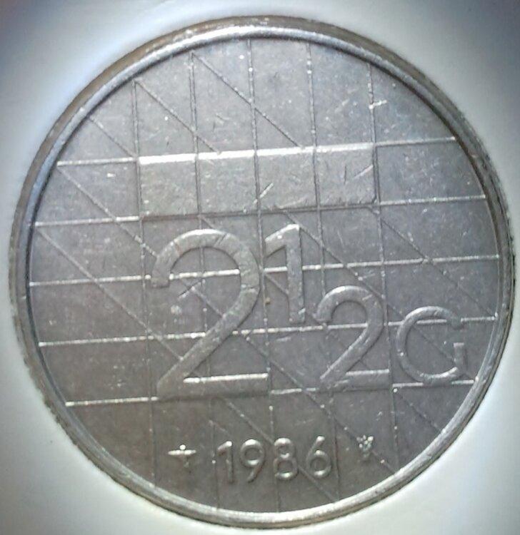 Beatrix 2½ Gulden 1986, FDC