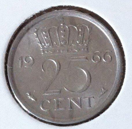 25 Cent 1966a, UNC