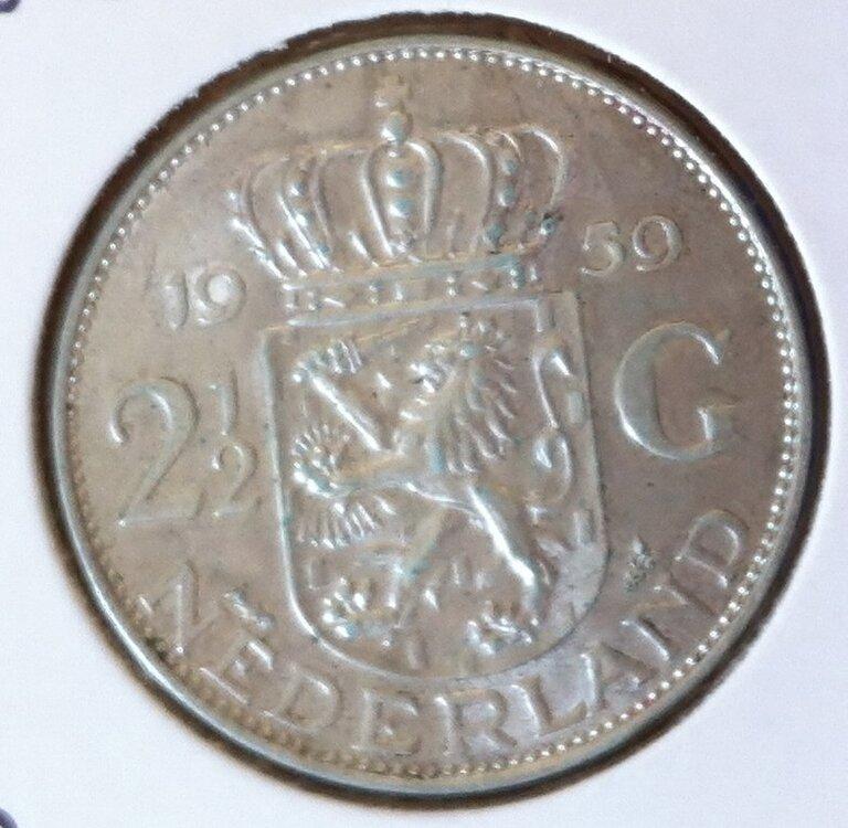 2½ Gulden 1959, UNC