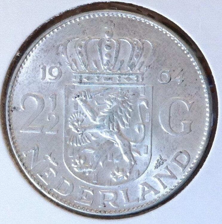 2½ Gulden 1964, UNC