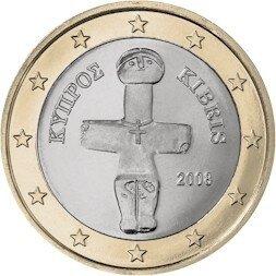 Cyprus 1 Euro Jaartal te selecteren