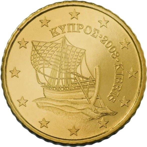 Cyprus 10 Cent Jaartal te selecteren