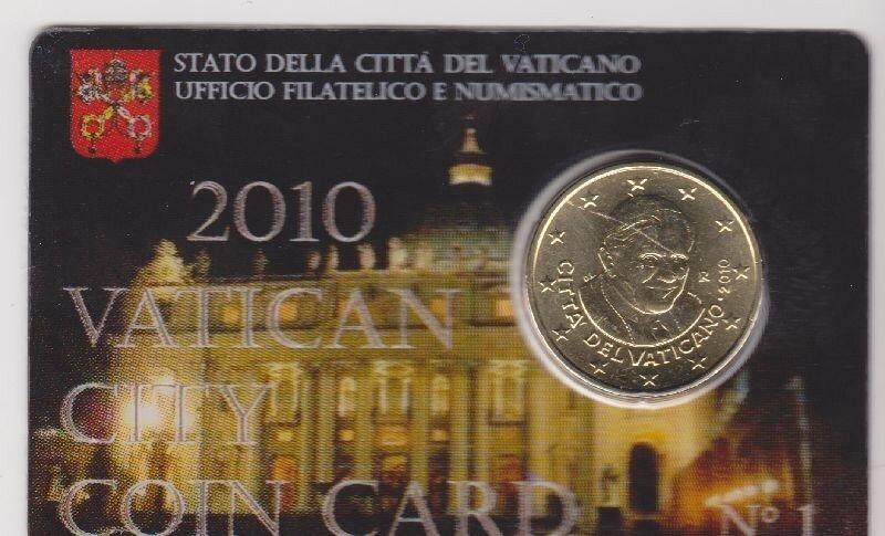 Vaticaanstad 2010 Coincard No 1