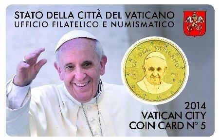 Vaticaanstad 2014 Coincard No 5