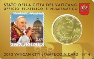 Vaticaanstad 2013 Coincard en Postzegel No 4