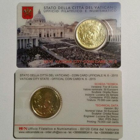 Vaticaanstad 2015 Coincard No 6