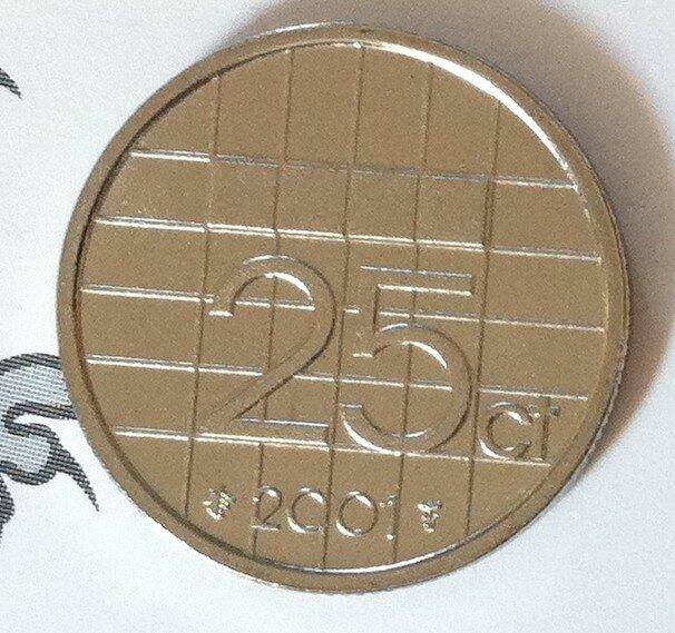 Beatrix 25 Cent 2001, FDC