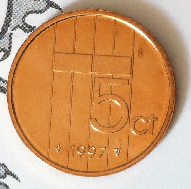 Beatrix 5 Cent 1997, FDC