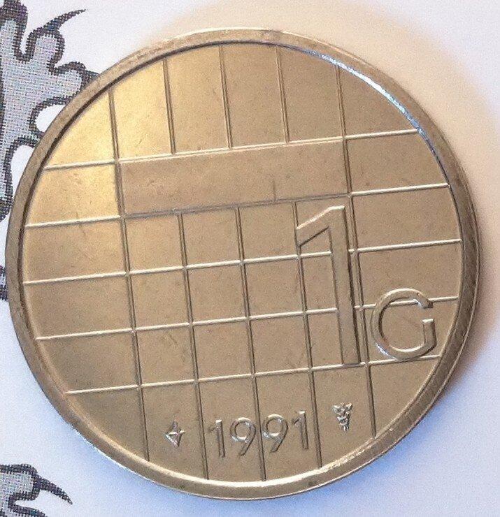Beatrix 1 Gulden 1991, FDC