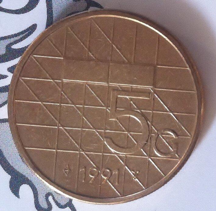 Beatrix 5 Gulden 1991, FDC