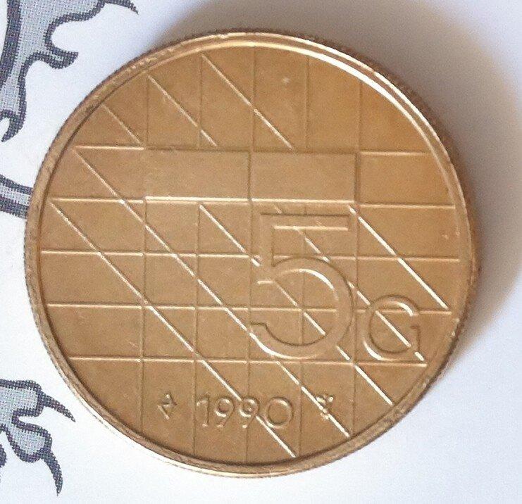 Beatrix 5 Gulden 1990, FDC