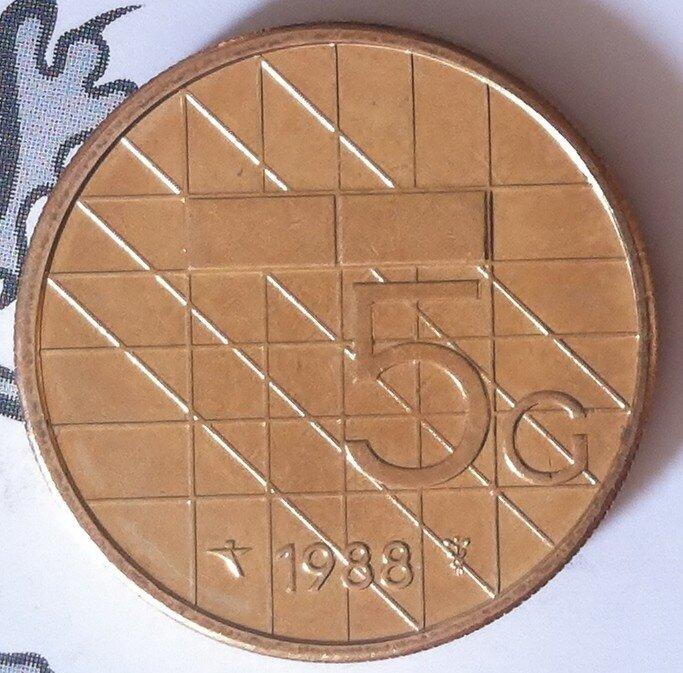 Beatrix 5 Gulden 1988, FDC