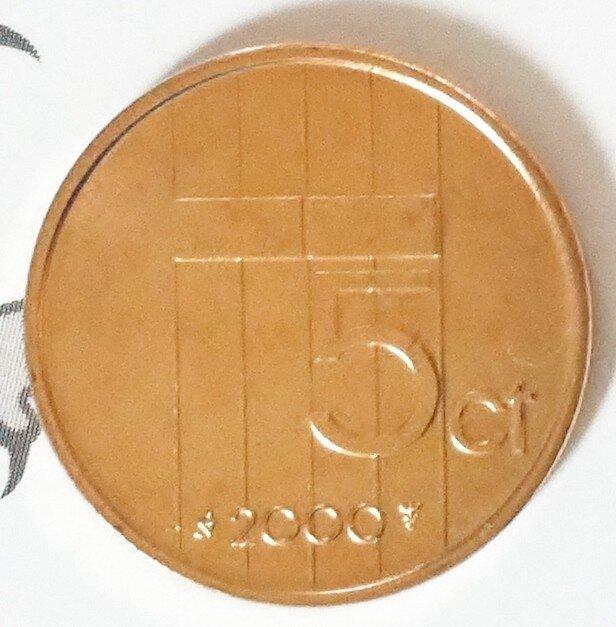 Beatrix 5 Cent 2000, FDC