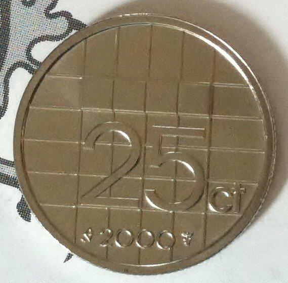 Beatrix 25 Cent 2000, FDC