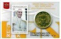 Vaticaanstad 2015 Coincard en Postzegel No 6