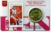 Vaticaanstad 2015 Coincard en Postzegel No 8