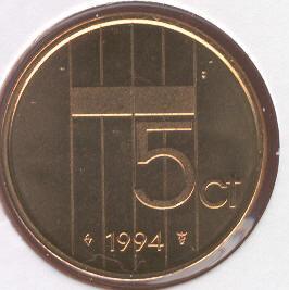Beatrix 5 Cent 1994, FDC