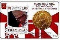 Vaticaanstad 2016 Coincard en Postzegel No 13