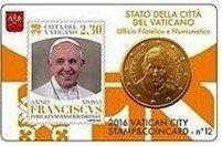Vaticaanstad 2016 Coincard en Postzegel No 12