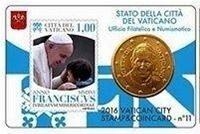 Vaticaanstad 2016 Coincard en Postzegel No 11