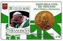 Vaticaanstad 2016 Coincard en Postzegel No 10