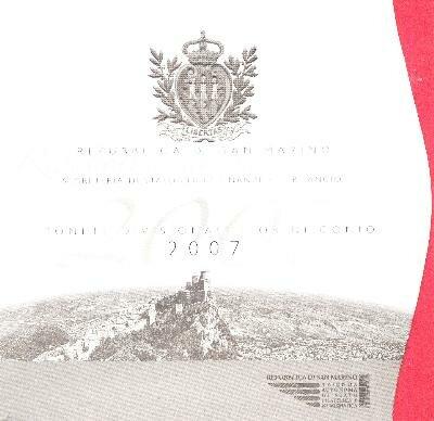 San Marino BU set 2007
