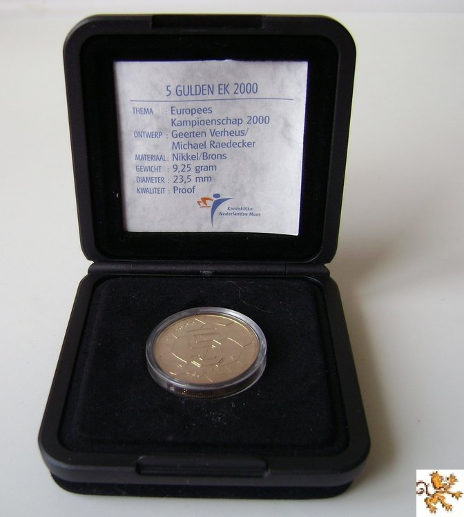 5 Gulden 2000, Proof, EK voetbal