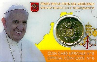Vaticaanstad 2017 Coincard No 8