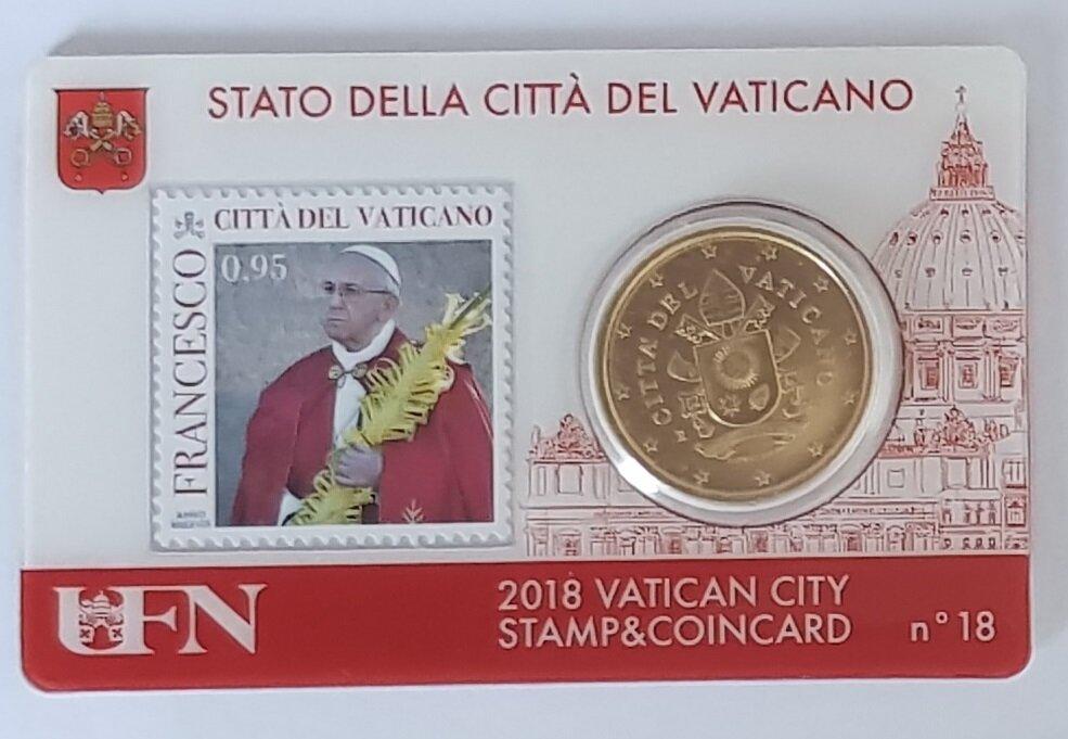 Vaticaanstad 2018 Coincard met postzegel No 18