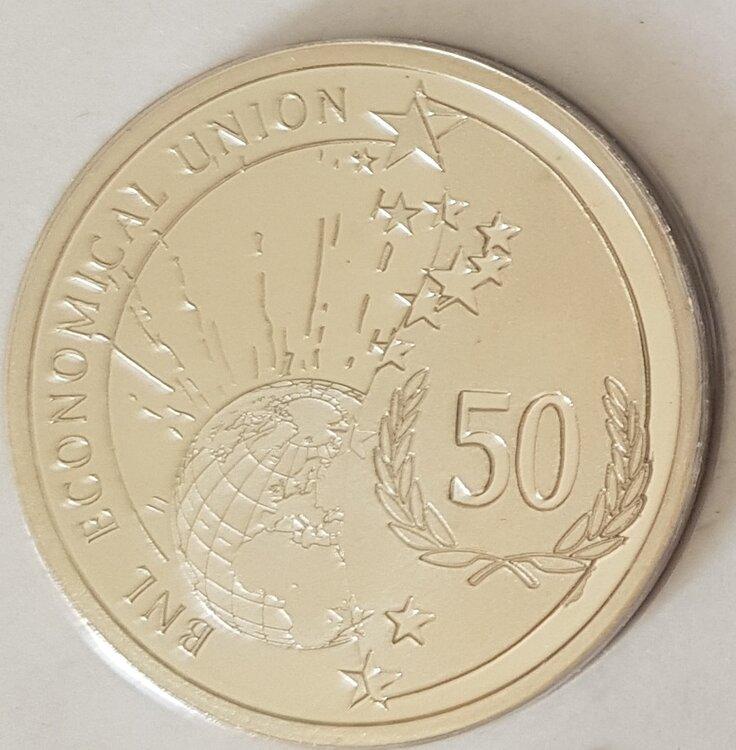 België 2008 penning uit de Beneluxset , BU, zilver
