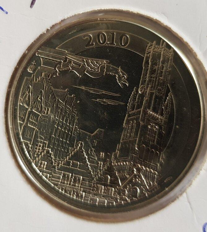 België 2010 penning uit BU set