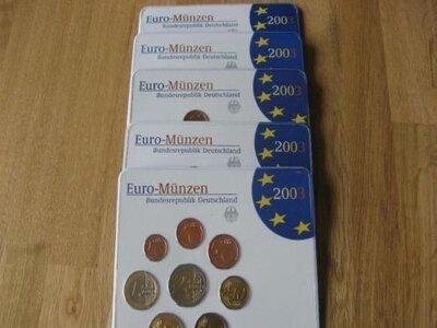 Duitsland BU set 2003 alle 5 letters