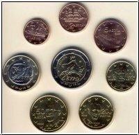 Griekenland UNC Set 2004 met 2 euro Olympische Spelen