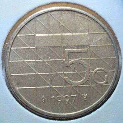 5 Gulden 1997, UNC,