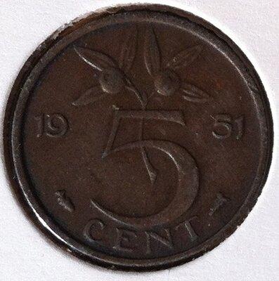 5 Cent 1951, UNC
