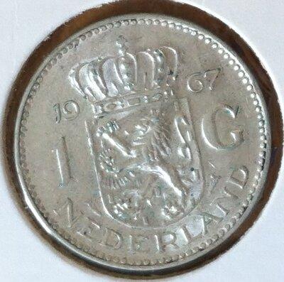 1 Gulden 1967, UNC, Zilver