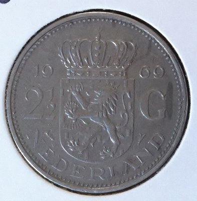 2½ Gulden 1969, Vis, UNC