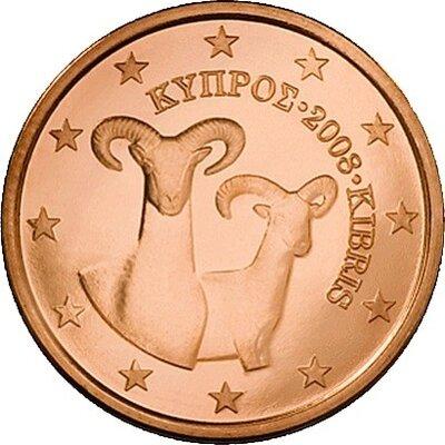 Cyprus 2 Cent Jaartal te selecteren