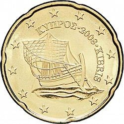 Cyprus 20 Cent Jaartal te selecteren