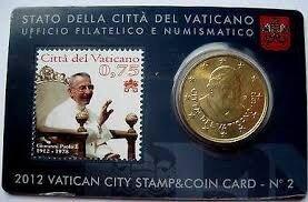 Vaticaanstad 2012 Coincard en Postzegel No 2