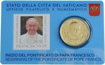 Vaticaanstad 2013 Coincard en Postzegel No 3