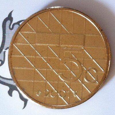 Beatrix 5 Gulden 2001, FDC