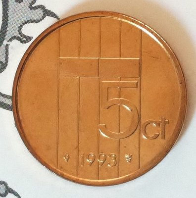 Beatrix 5 Cent 1993, FDC