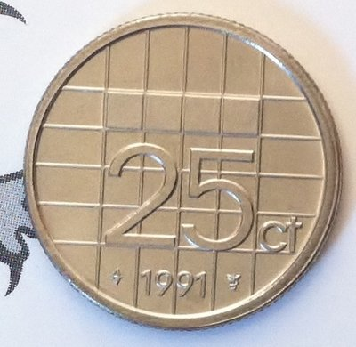 Beatrix 25 Cent 1991, FDC