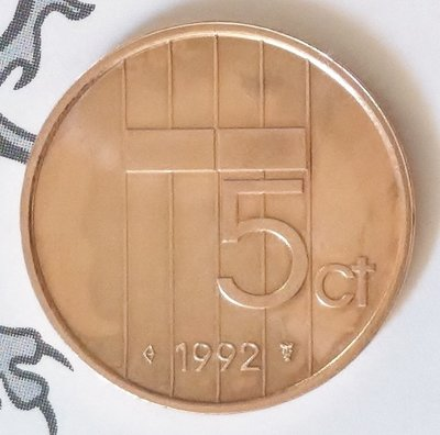 Beatrix 5 Cent 1992, FDC