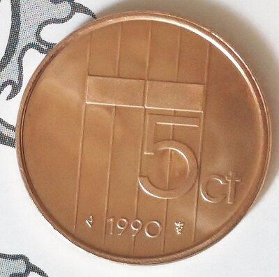 Beatrix 5 Cent 1990, FDC